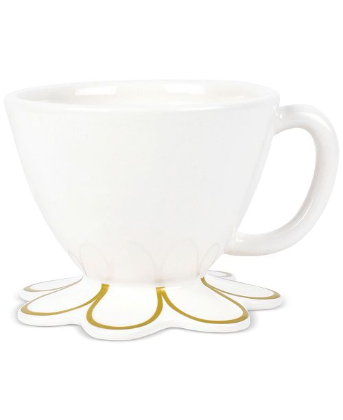 Coton Colors by Laura Johnson Scallop-Edge Gold Mug