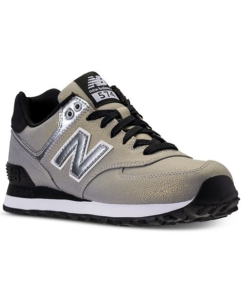 new balance 500 silver metallic