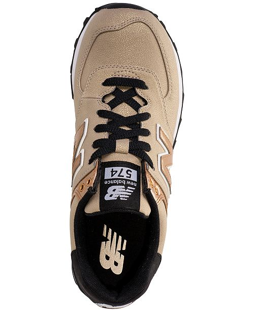 a1a3a294b96 ... New Balance Women s 574 Seasonal Shimmer Casual Sneakers from Finish ...