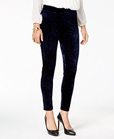 Thalia Sodi Crushed Velvet Leggings, Created for Macy's