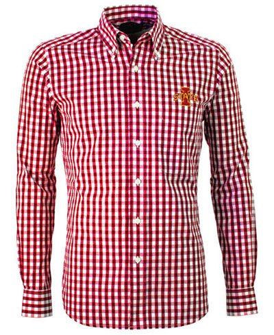 Antigua Men's Iowa State Cyclones National Button-Up