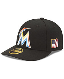 New Era Miami Marlins Authentic Collection Low Profile 9-11 Patch 59FIFTY Fitted Cap