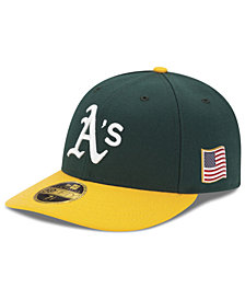 New Era Oakland Athletics Authentic Collection Low Profile 9-11 Patch 59FIFTY Fitted Cap