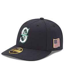 New Era Seattle Mariners Authentic Collection Low Profile 9-11 Patch 59FIFTY Fitted Cap