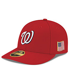 New Era Washington Nationals Authentic Collection Low Profile 9-11 Patch 59FIFTY Fitted Cap