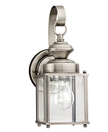Sea Gull Outdoor Lighting, Jamestowne Brushed Nickel Wall Lantern 17""