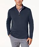 Tasso Elba Mens Supima Cotton Quarter-Zip Sweater Created for Macys
