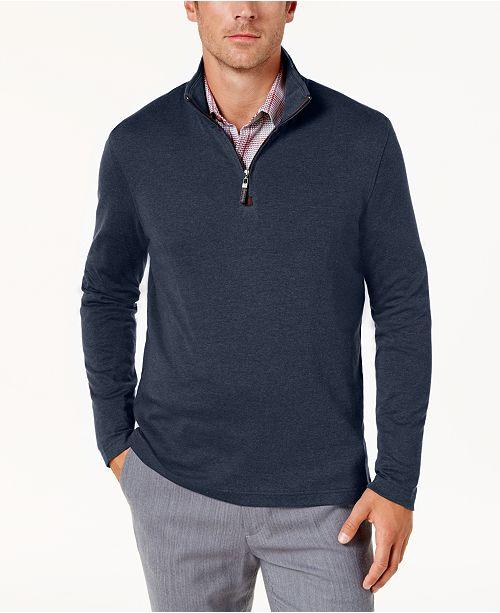 Men's For Supima® Zip Cotton Tasso Elba SweaterCreated Quarter hQxtdCsr