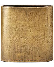 Henley Slender Brass Vase Medium, Quick Ship
