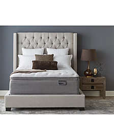 "Serta Masterpiece William 17"" Luxury Firm Euro Pillow Top Mattress Set - Twin XL, Created for Macy's"