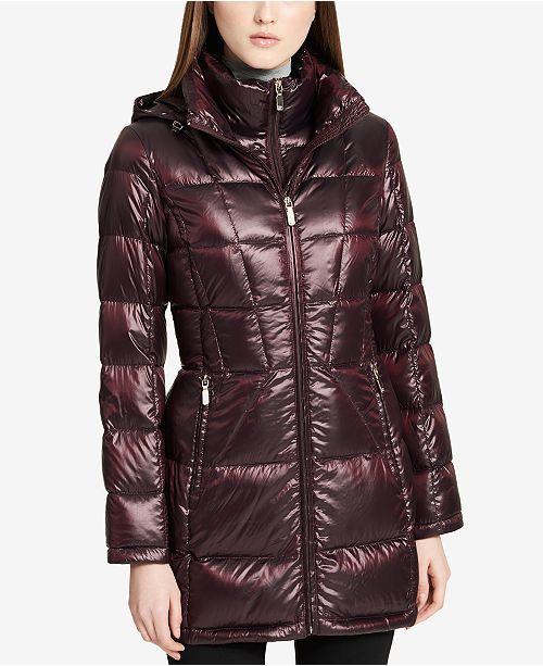 862bcf27b Calvin Klein Hooded Packable Down Puffer Coat & Reviews - Coats ...