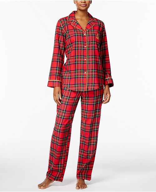2f6f524f46 ... Lauren Ralph Lauren Printed Cotton Twill Pajama Set ...