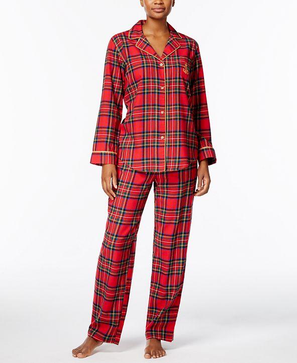 Lauren Ralph Lauren Printed Cotton Twill Pajama Set