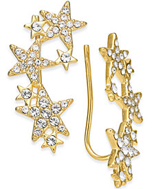 kate spade new york 14k Gold-Plated Pavé Star Ear Climbers