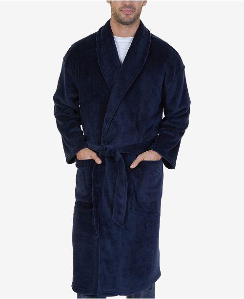 nautica men s plush robe pajamas lounge sleepwear men macy s
