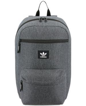 Adidas Men'S Originals Backpack, Black/ Grey Heather/ White