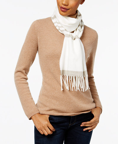 Cejon Striped Soft Knit Scarf