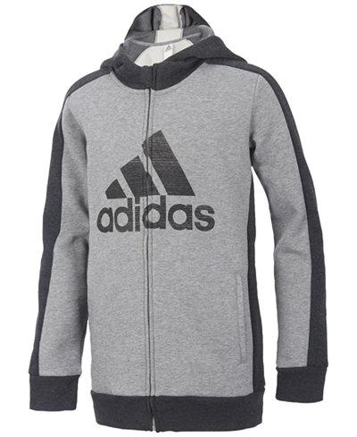 adidas Athletic Full-Zip Hoodie, Little Boys