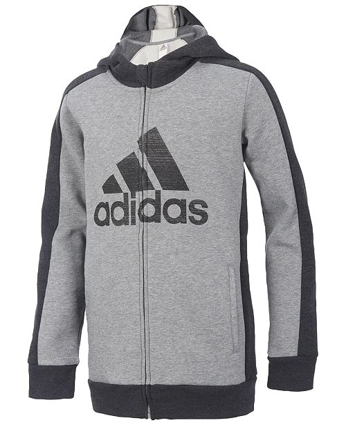 3352e64cc adidas Athletic Full-Zip Hoodie, Toddler Boys & Reviews - Sweaters ...