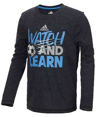 adidas Watch Graphic-Print Shirt, Little Boys
