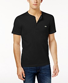 Men's Henley Neck Pima Cotton Jersey T-shirt
