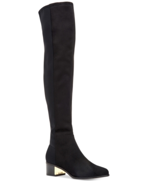 Calvin Klein  WOMEN'S CARNEY OVER THE KNEE BOOTS WOMEN'S SHOES