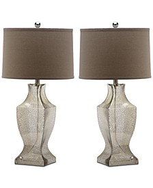 Glass Bottom Set of 2 Table Lamps