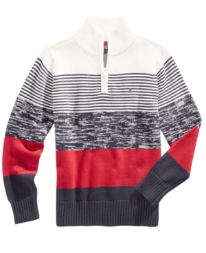 Tommy Hilfiger Reggie Striped Cotton Sweater Big Boys (820)