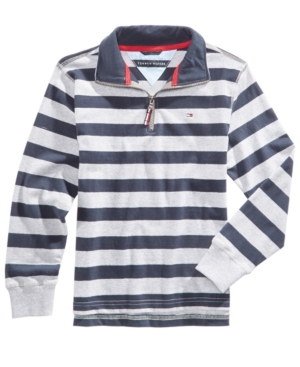Tommy Hilfiger Striped Cotton Rugby Sweater Big Boys (820)