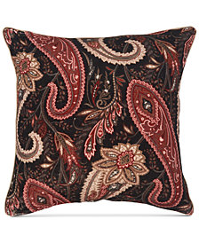 "Sanderson Mapperton Paisley Print 20"" x 20"" Decorative Pillow"