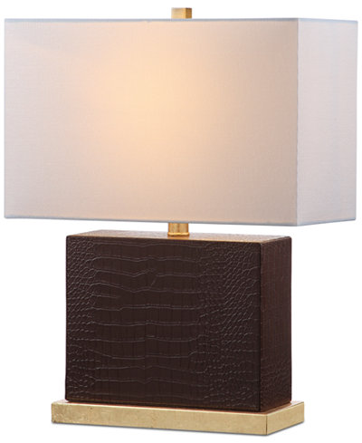 Macys Table Lamps Delectable Safavieh Delia Faux Gator Table Lamp Lighting Lamps Home Macy's