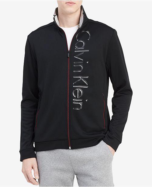 Calvin Klein Men's Zip-Front Fleece Jacket, Created for Macy's