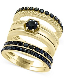 Caviar by EFFY® Diamond 3-Pc. Ring Set in 14k Gold