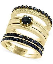 Caviar by EFFY® Diamond 3-Pc. Ring Set in 14k Gold