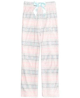 Max & Olivia Fair Isle Pajama Pants, Little Girls & Big Girls ...
