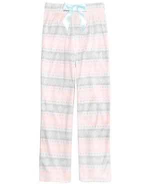 Max  Olivia Fair Isle Pajama Pants Little Girls (46X) Big Girls (716) Created for Macys
