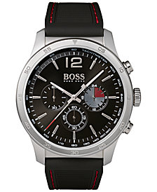 BOSS Hugo Boss Men's Chronograph Professional Black Rubber Strap Watch 42mm