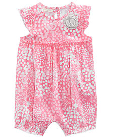 First Impressions Printed Cotton Romper, Baby Girls, Created for Macy's
