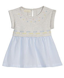 First Impressions Embroidered Striped Dress, Baby Girls, Created for Macy's
