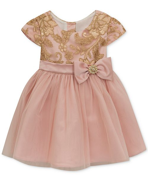 3a70a3eead0b9 Rare Editions Embroidered Sequin Dress, Baby Girls & Reviews ...