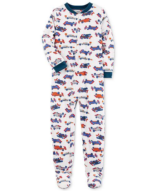 66349a23b1 Carter s 1-Pc. Car-Print Footed Pajamas