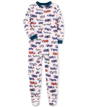 Carters 1Pc CarPrint Footed Pajamas Little Boys (47)  Big Boys (820)
