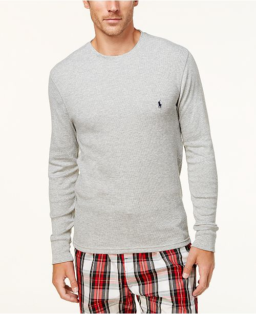 4f2400375e030 Polo Ralph Lauren Men s Ultra Soft Waffle-Knit Thermal Shirt ...