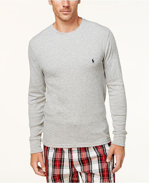 2ee4d741 Polo Ralph Lauren Men's Ultra Soft Waffle-Knit Thermal Shirt ...
