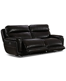 """Summerbridge 84"""" 2-Pc. Leather Sectional Sofa with 2 Power Reclining Chairs, Power Headrests and USB Power Outlet"""