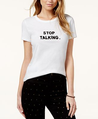 Bow & Drape Stop Talking Graphic T-Shirt
