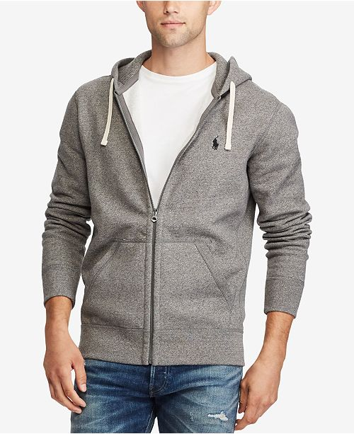 Polo Ralph Lauren Men s Hoodie, Core Full Zip Hooded Fleece ... 9377bdb2303b