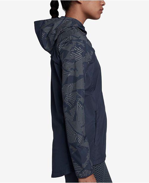 Nike Essential Flash Running Jacket - Jackets   Blazers - Women - Macy s 4efa8e554