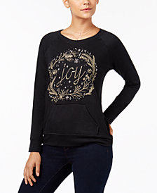 Style & Co Petite Embroidered Sweatshirt, Created for Macy's