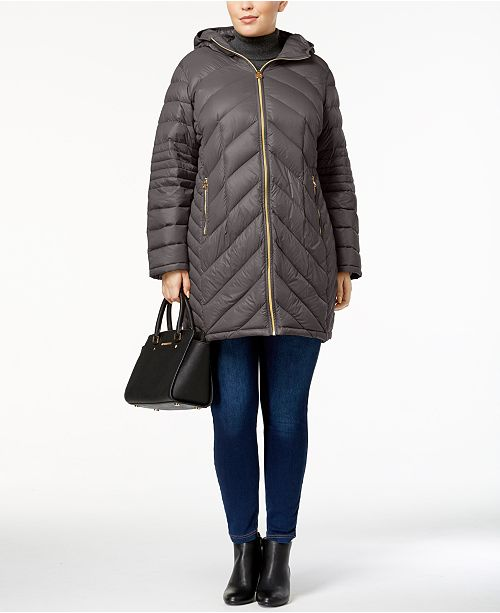 36b2001afa3fb ... Michael Kors Plus Size Chevron Packable Down Puffer Coat